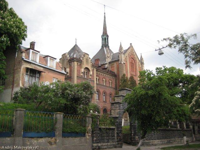 Kościół Serca Pana Jezusa i klasztor Franciszkanek, ul.Łysenka, obecnie prawoslawna cerkiew św. Jana Złotustego i seminarium (2)