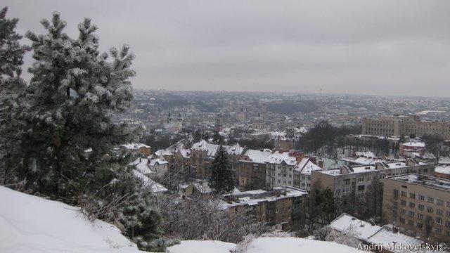 widok z góry Wysoki zamek (d. Kopiec Unii lubelskiej)