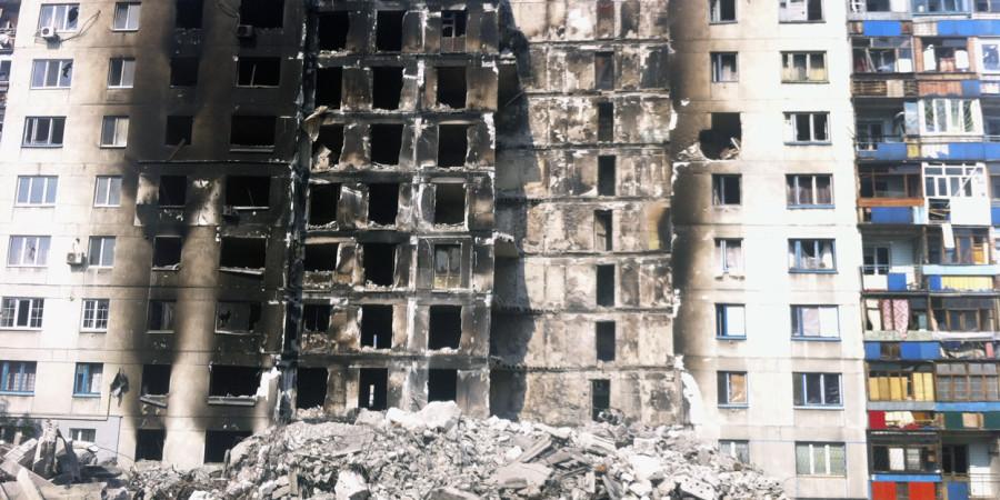 Wojna. Łysyczańsk (wschodnia Ukraina)