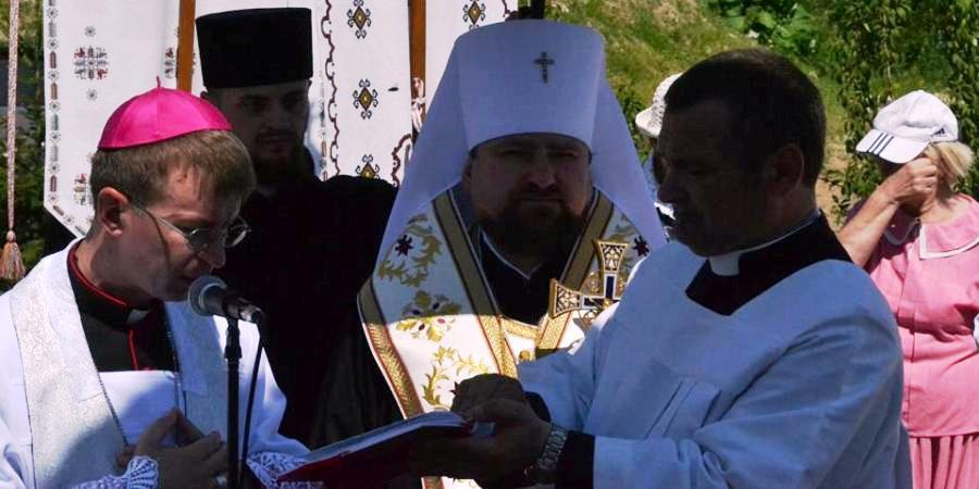 ekumeniczne poświęcenie figury sw. Antoniego. Autor fotografii Paweł Kowalczuk
